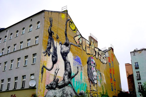 Berlin street art graffiti