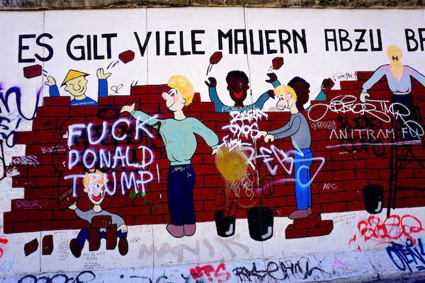 visiting Berlin wall