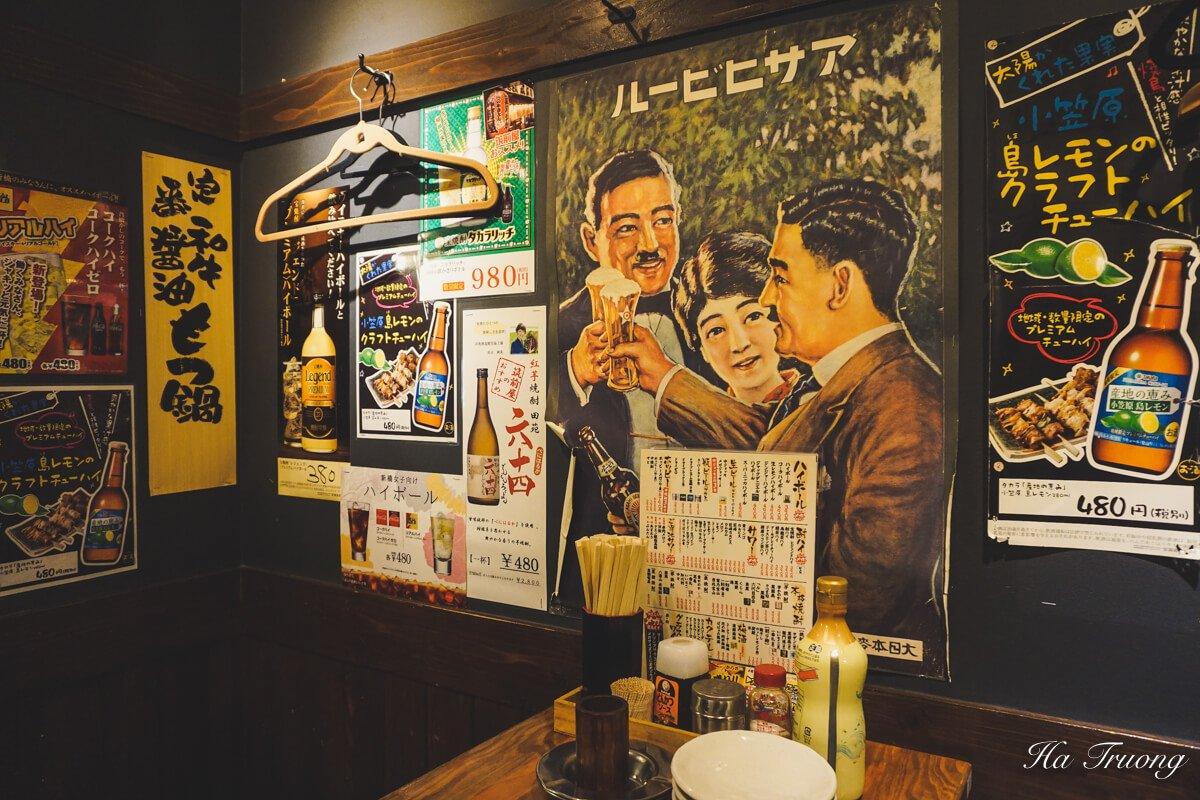 drinking at Izakaya Tokyo