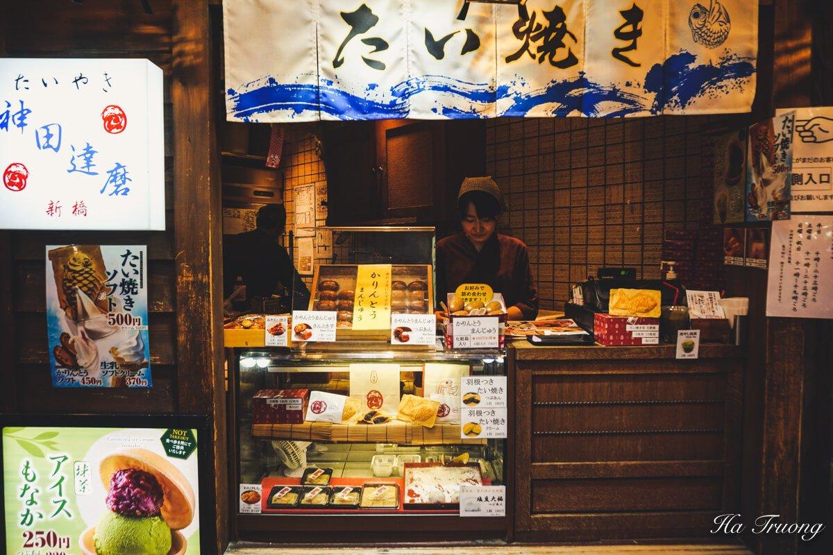 Taiyaki shop Tokyo food tour