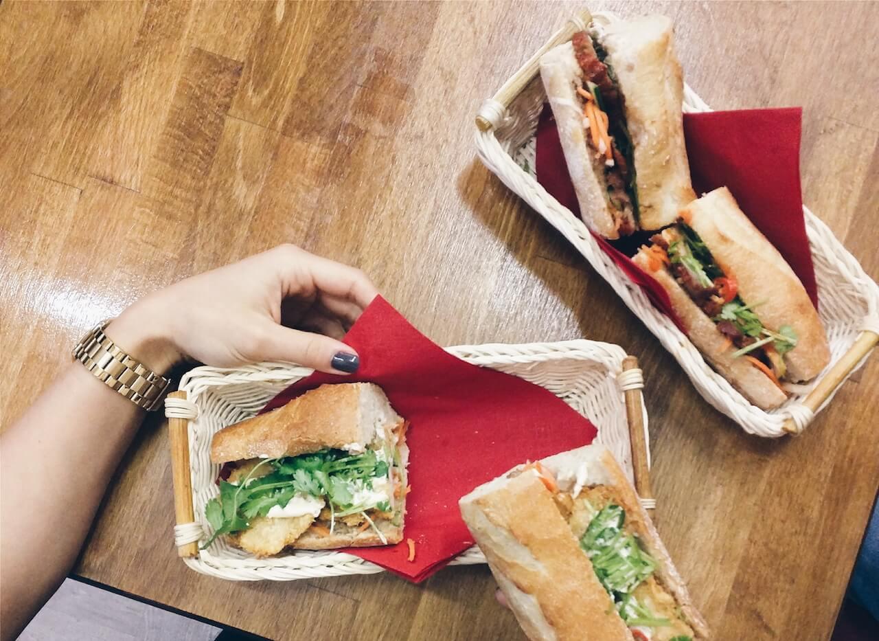 Vietnamese street food banh mi