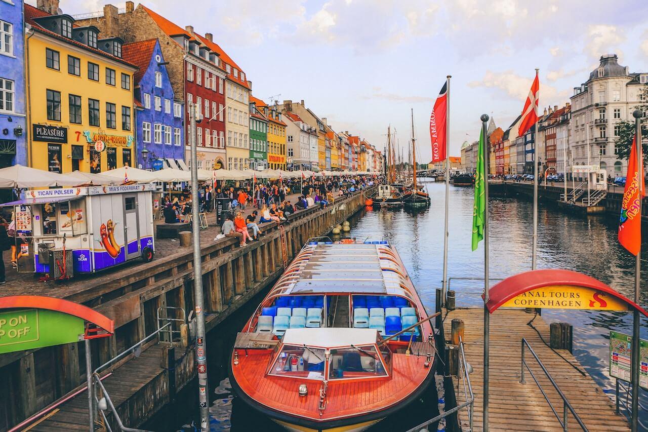 taking a canal tour Nyhavn Copenhagen