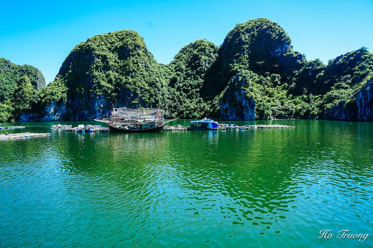 Lan Ha Bay fish village Cat Ba island Vietnam