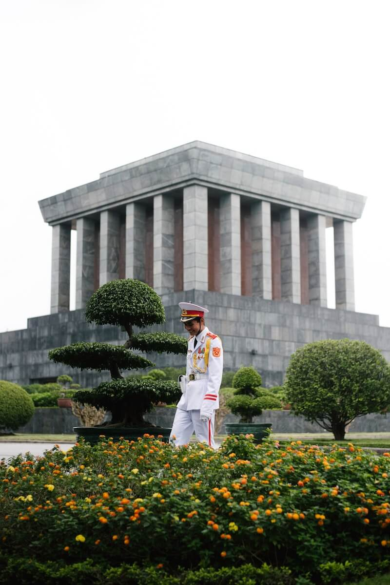 best things to do in Hanoi Vietnam - visit Ho Chi Minh Mausoleum