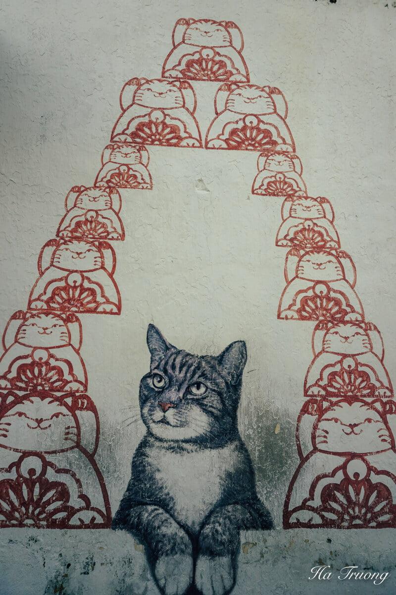 Cat murals in Penang Malaysia