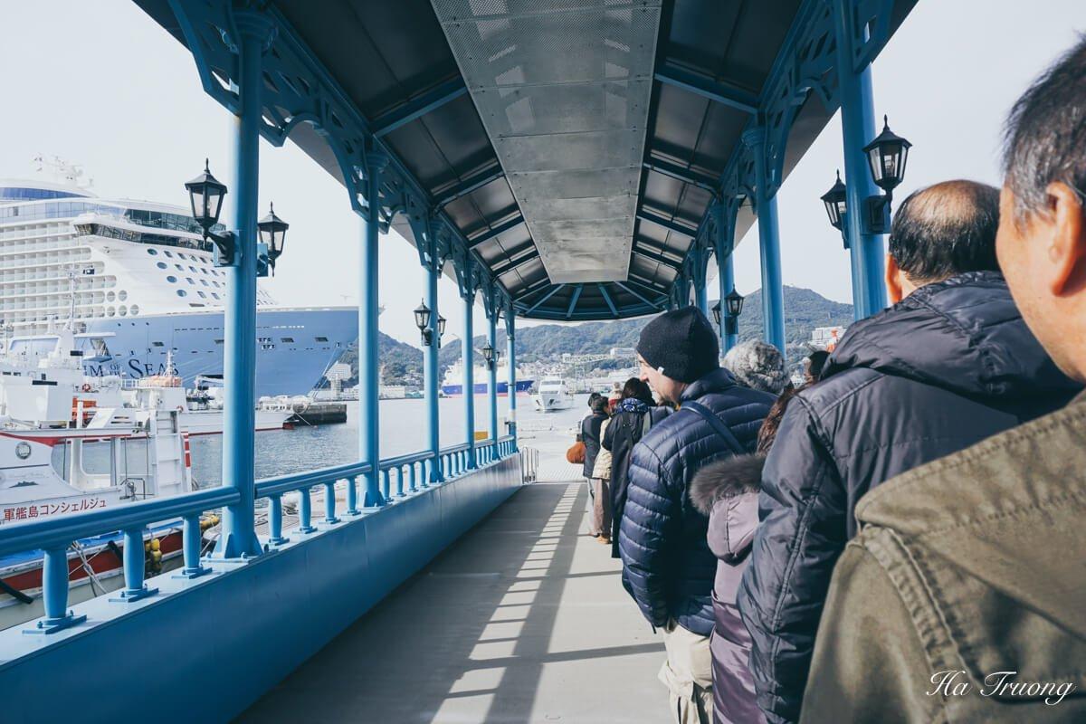 how to book Gunkanjima boat tour
