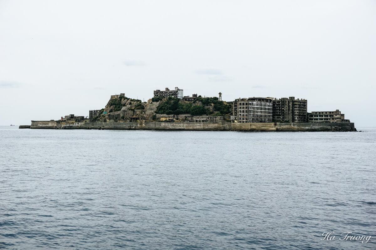 abandoned Gunkanjima battleship island in Nagasaki Japan