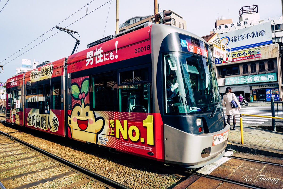 how to get around Nagasaki city - tram