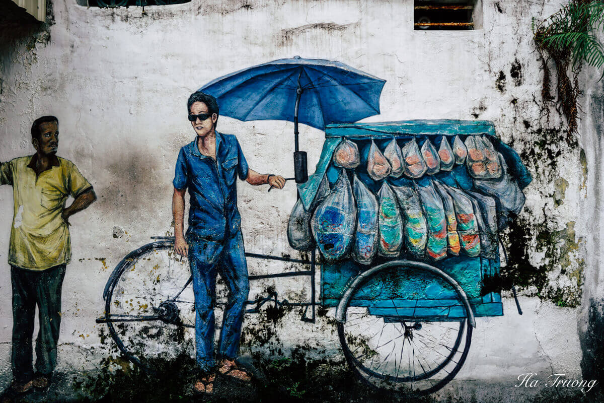 Penang street art painting