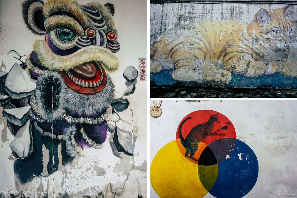 Penang street art cat - Skippy comes to Penang