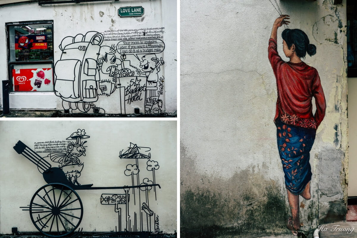 best street art to see in Penang Georgetown