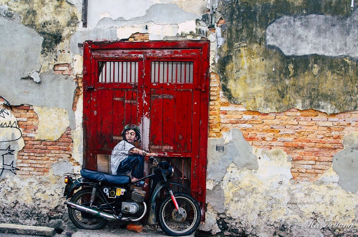most famous Penang street art