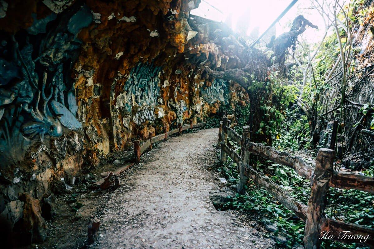 Thuy Tien lake abandoned water park Hue Vietnam