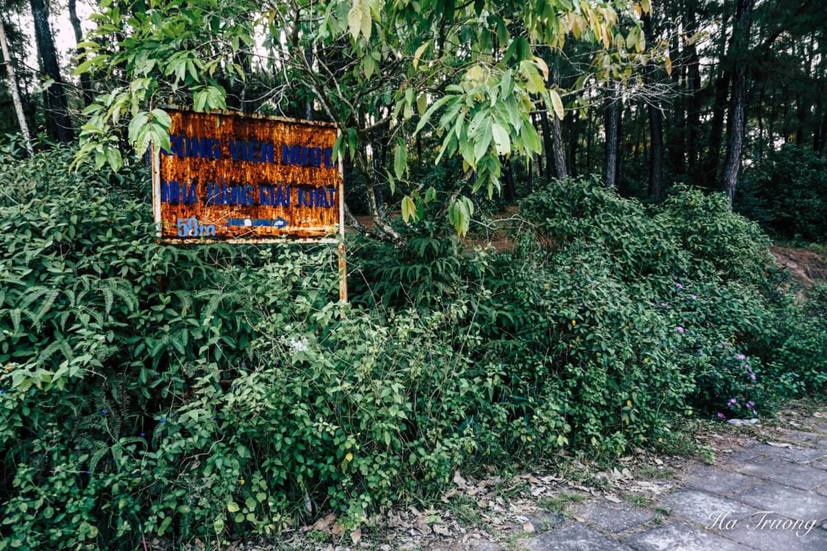 ruins at Thuy Tien lake abandoned water park Hue Vietnam