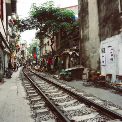best things to see in Hanoi train street Vietnam