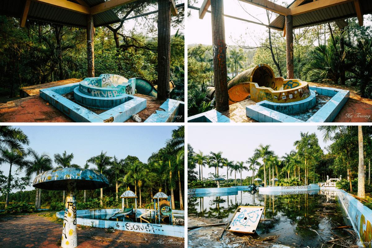 water park area of Thuy Tien Lake Hue Vietnam