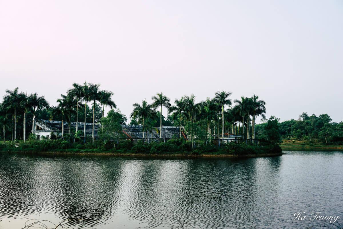things to do at Thuy Tien Lake abandoned water park Hue Vietnam
