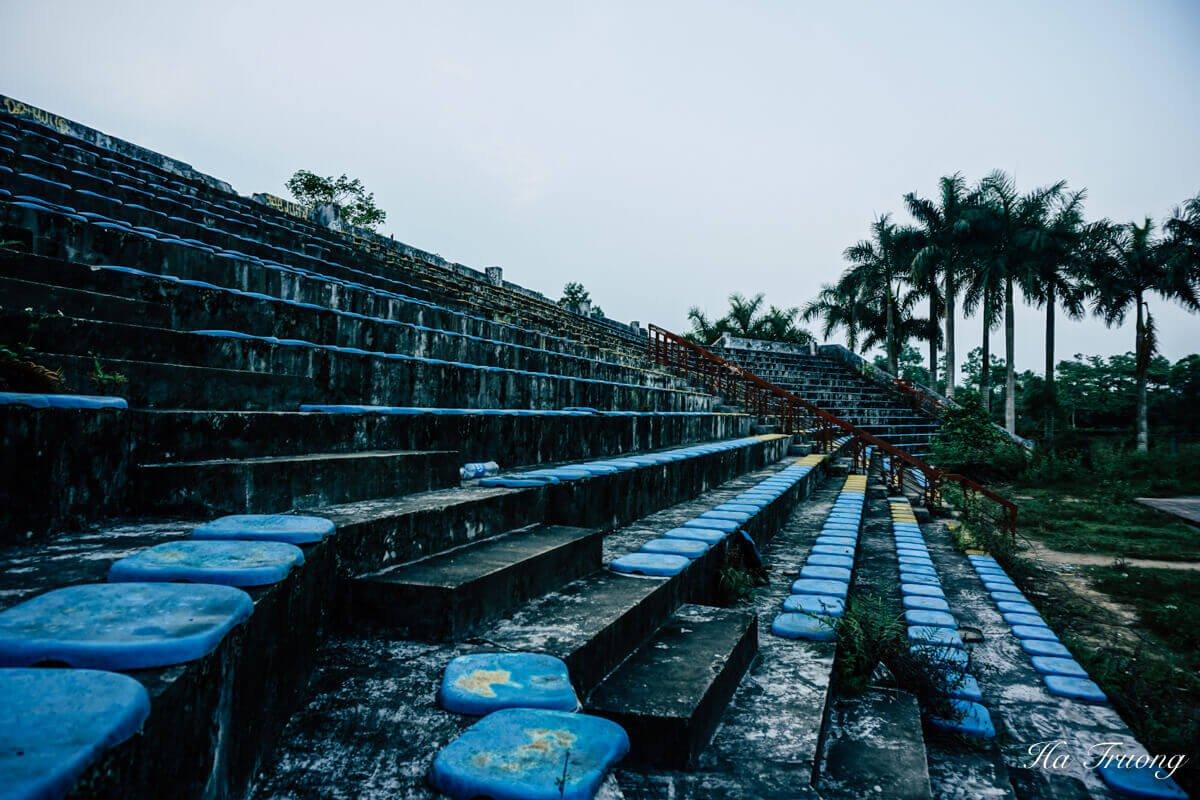 the stadium at Thuy Tien Lake water park Hue Vietnam