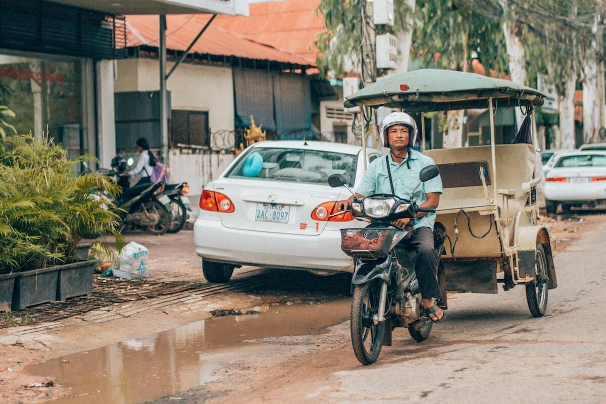 getting around Siem Reap Cambodia