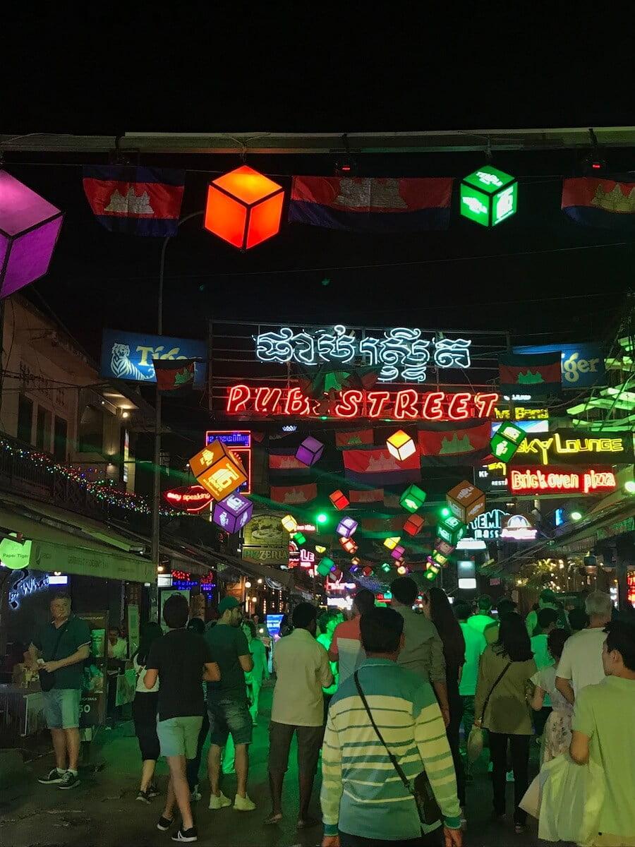 Pub Street Siem Reap nightlife
