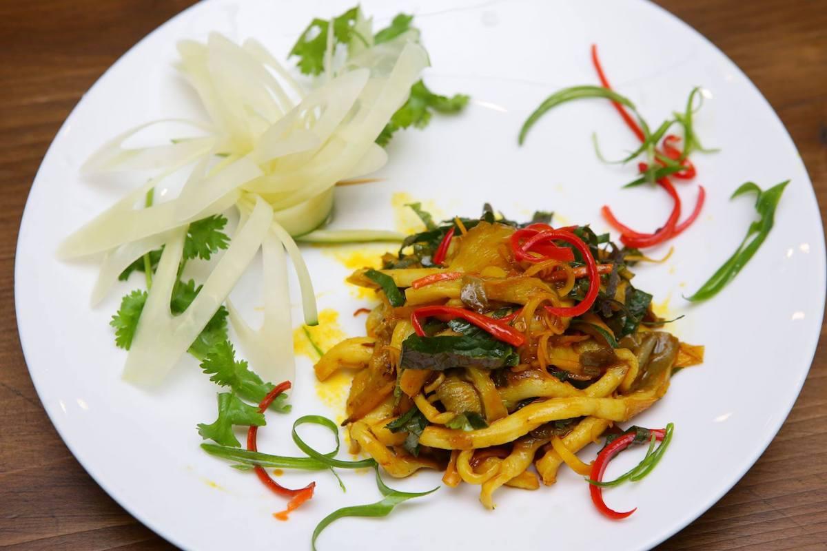 fried mushroom vegetarian food in Saigon