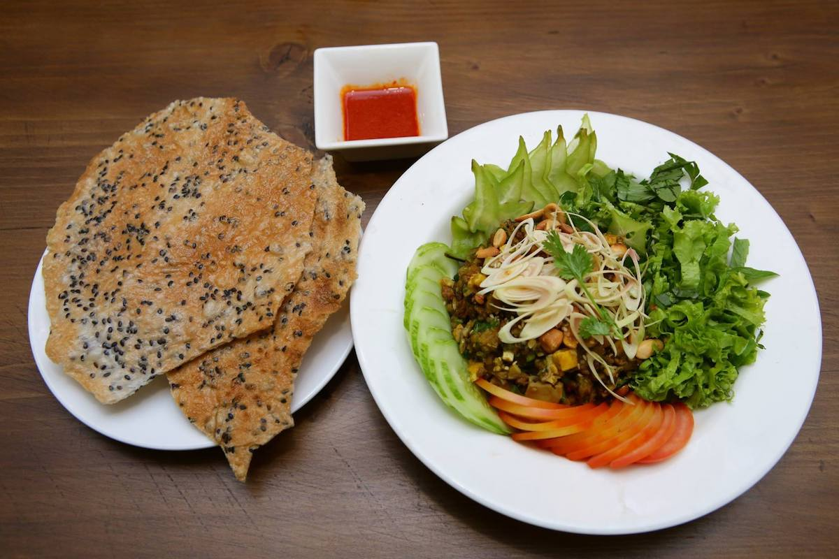 fried rice vegetarian food in Ho Chi Minh Vietnam