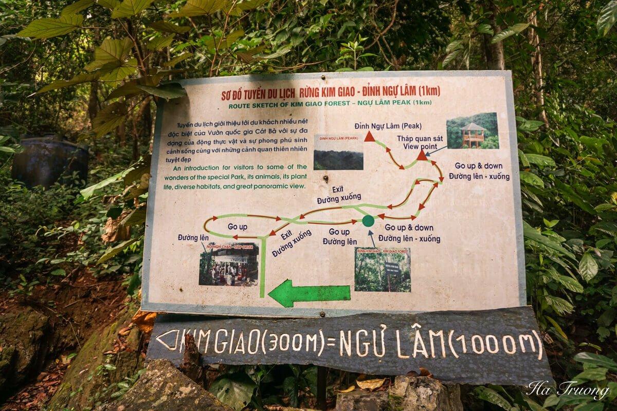 Cat Ba National Park map