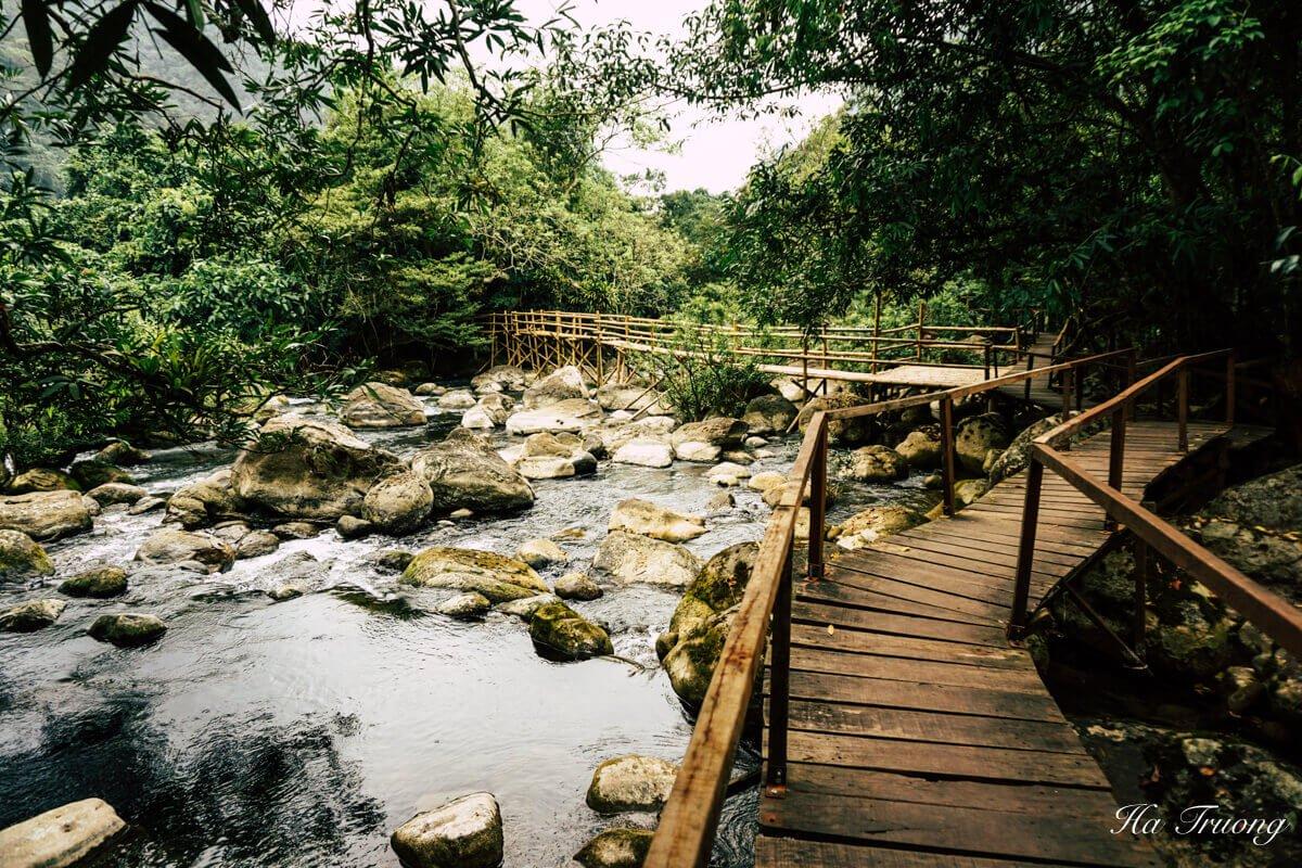Mooc Spring Phong Nha Vietnam wooden bridge