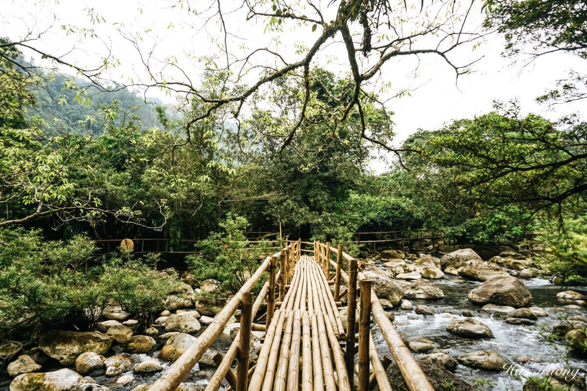 wooden bridge Vietnam