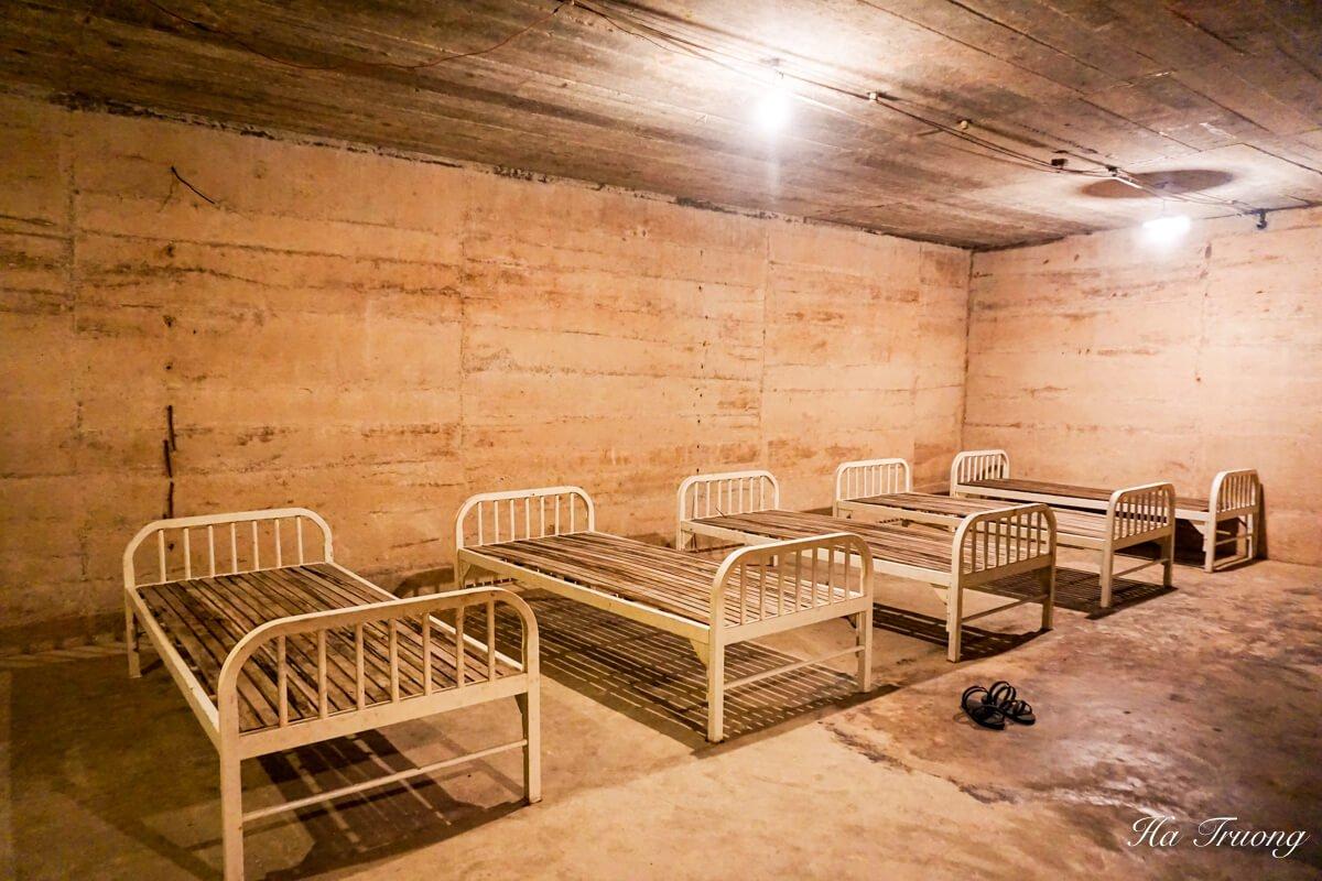 Hospital cave Vietnam beds