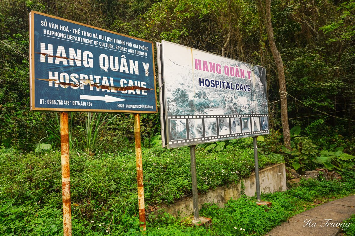 Hospital cave Vietnam sign