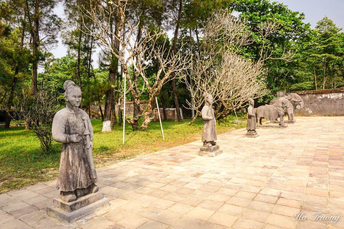 Minh Mang tomb Vietnam yard