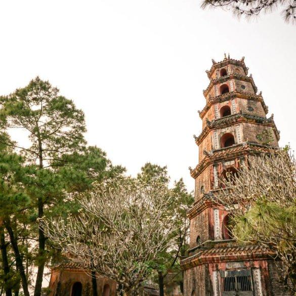 Thien Mu Pagoda of the Celestial Lady Hue Vietnam travel guide
