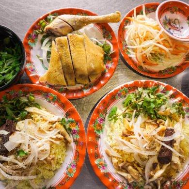 Vietnamese chicken rice Hoi An food