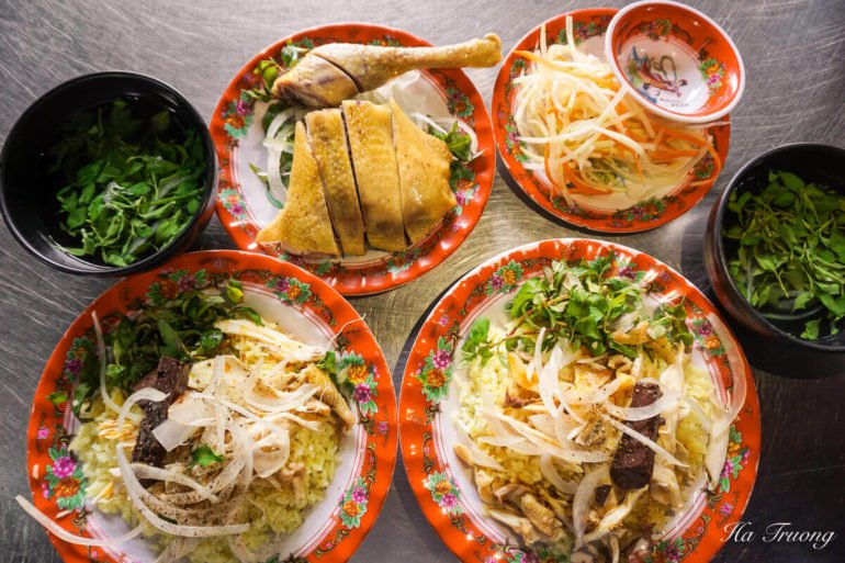 Vietnamese chicken rice Hoi An food
