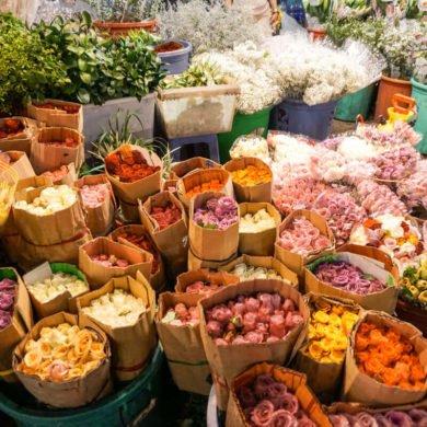 Ho Thi Ky flower Market Saigon Vietnam