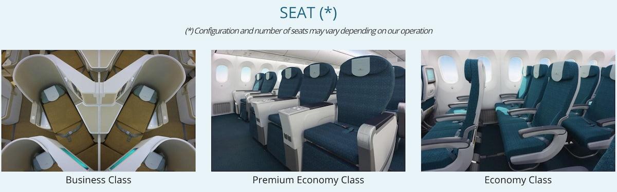 Vietnam Airline Boeing 787 seats