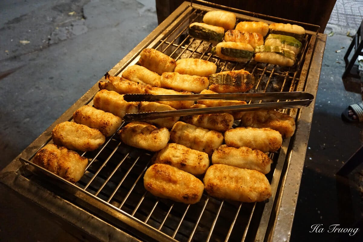 grilled banana rice cake
