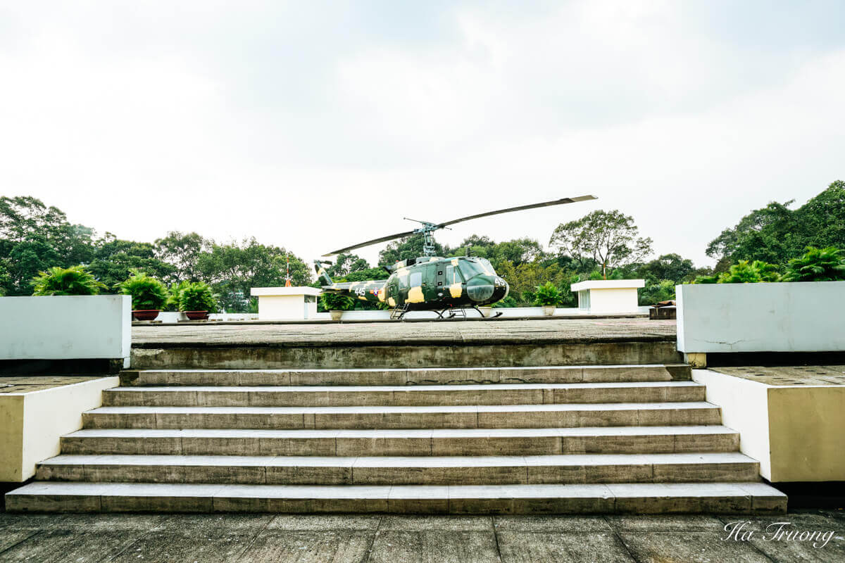 Independence Palace Saigon Vietnam helicopter