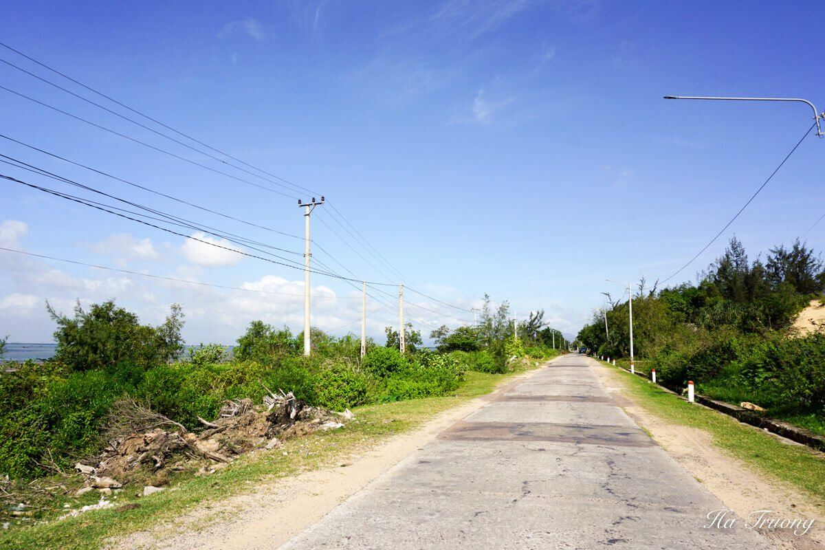 Road to Ky Co Quy Nhon Vietnam