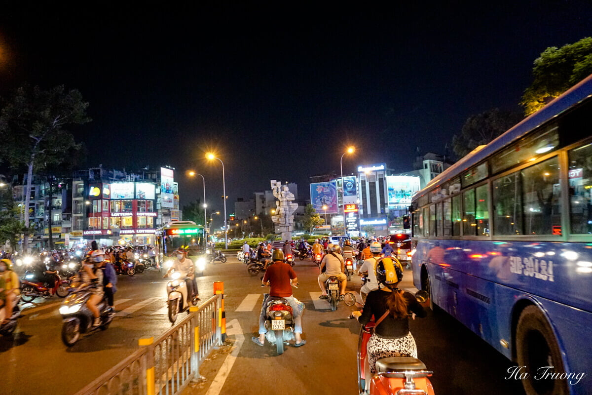 Saigon at night Vietnam