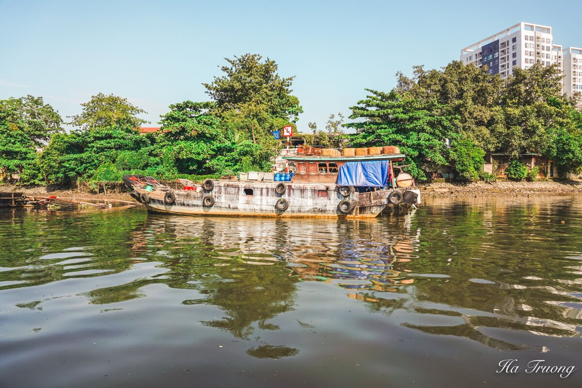 Saigon river Vietnam boat