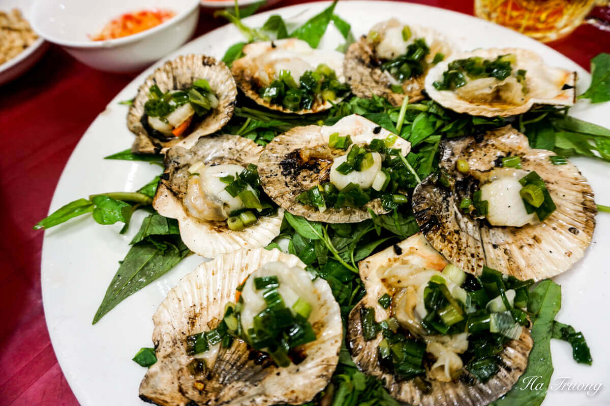scallops Vietnamese food