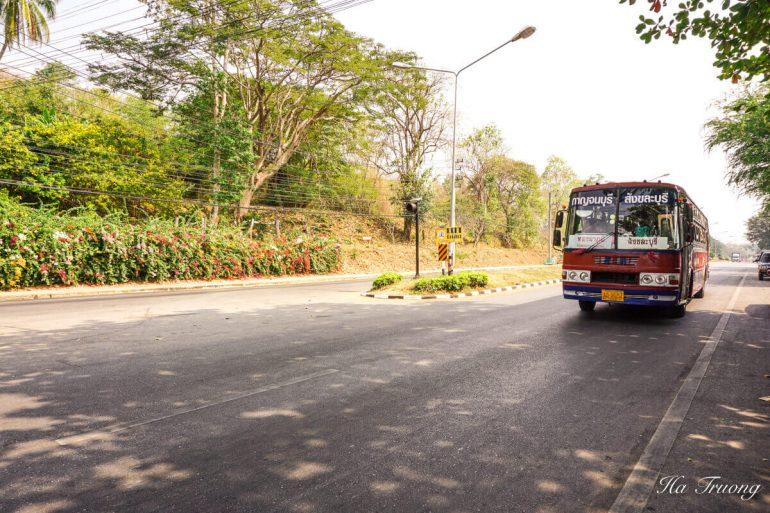 Kanchanaburi to Hellfire pass bus Thailand