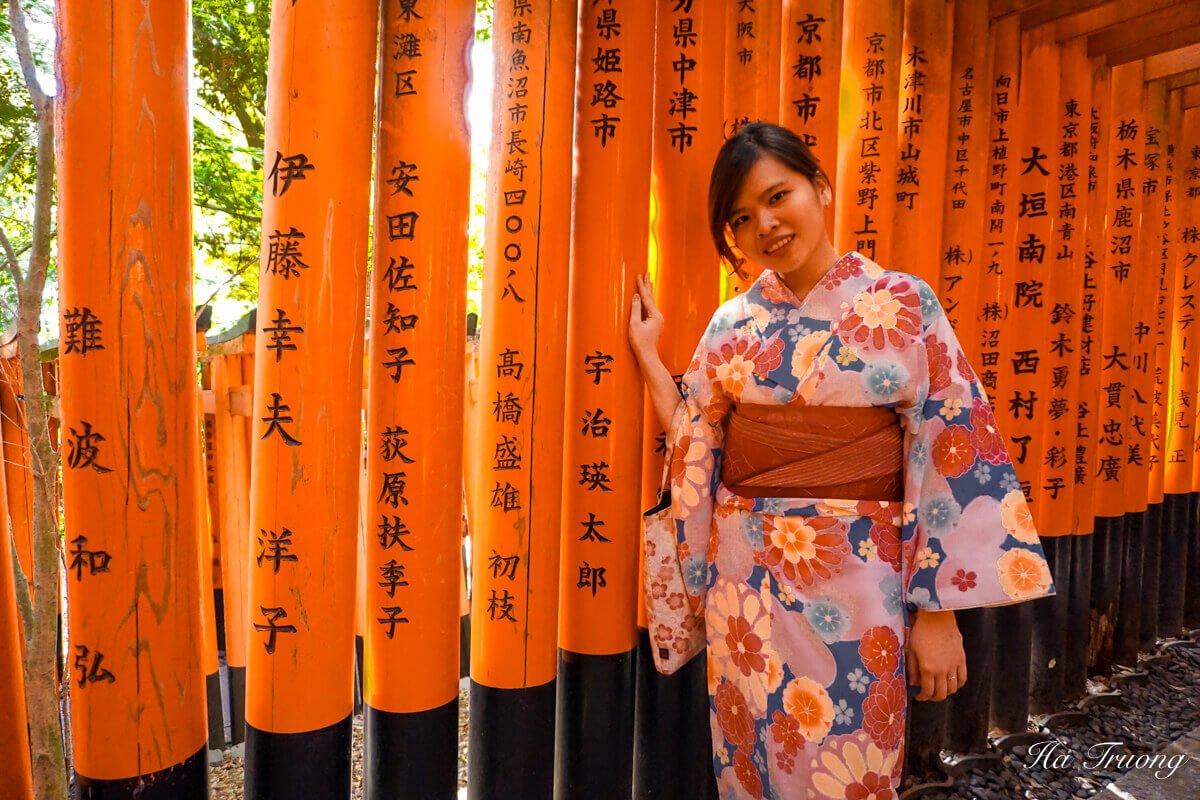 Torii gate Kyoto Japan