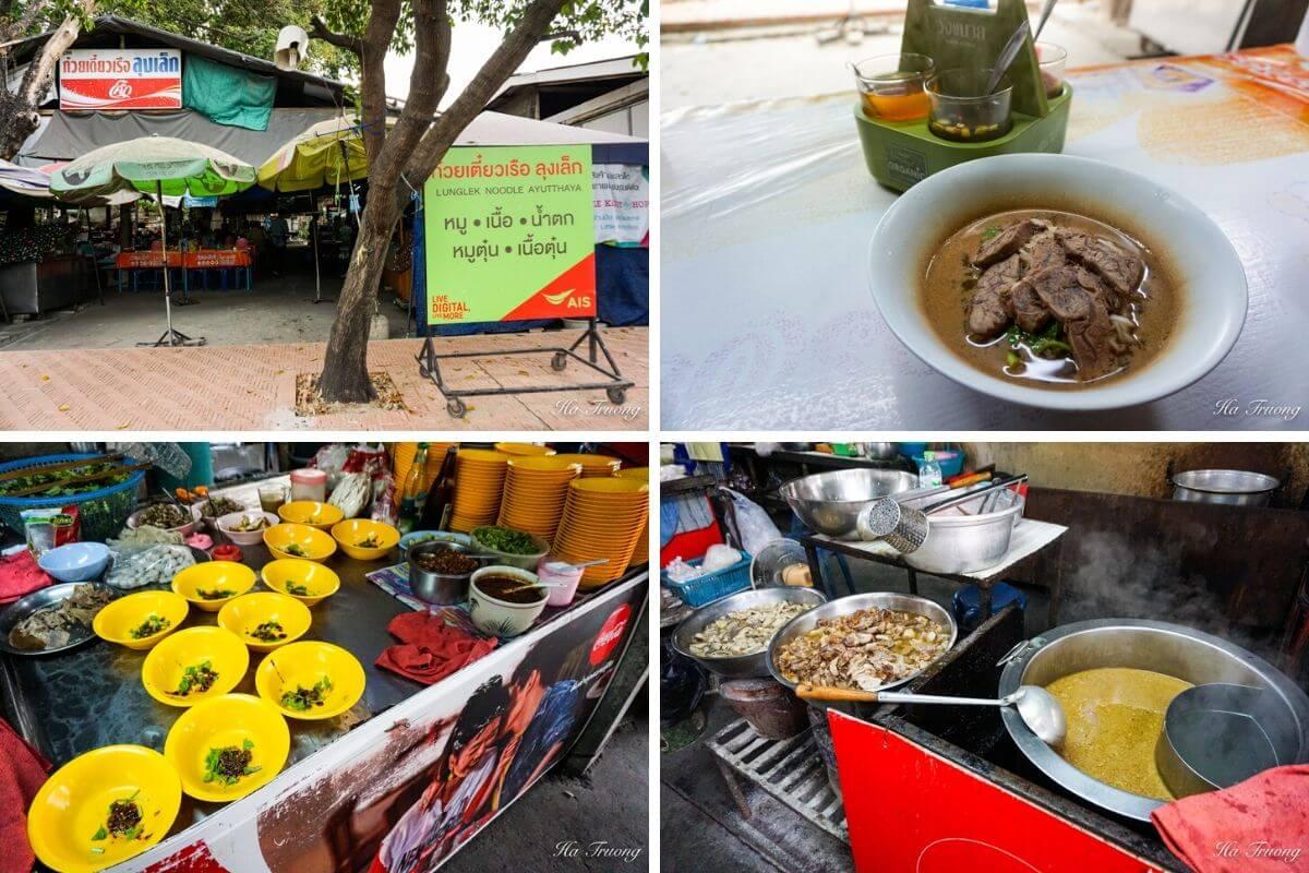 Ayutthaya Thailand boat noodles