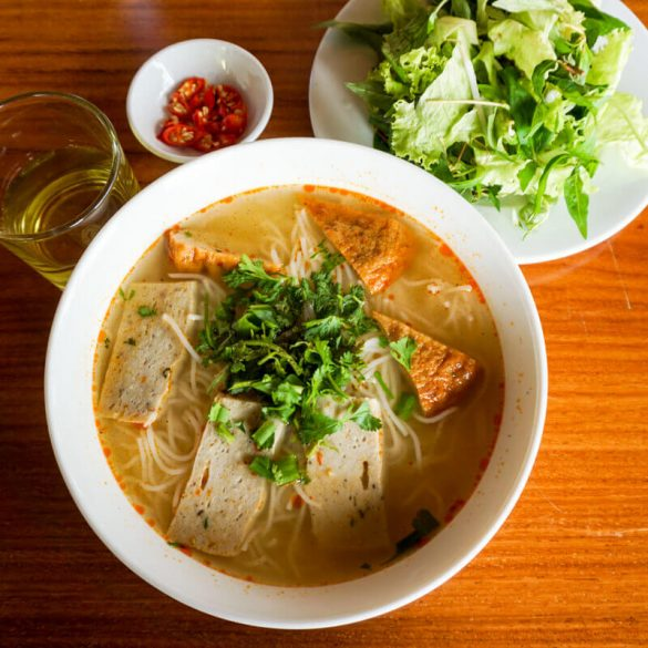 Fishball soup Quy Nhon food Vietnam