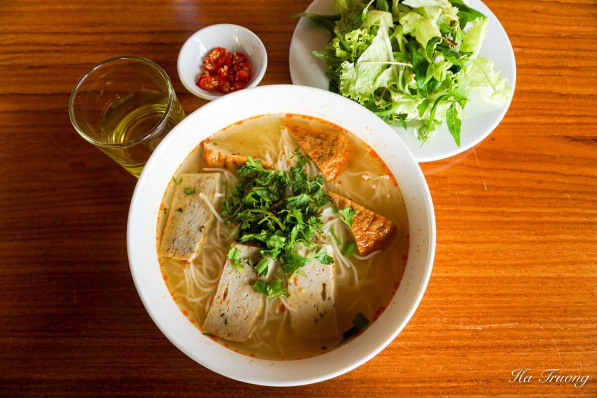 Fishball soup Quy Nhon Vietnam