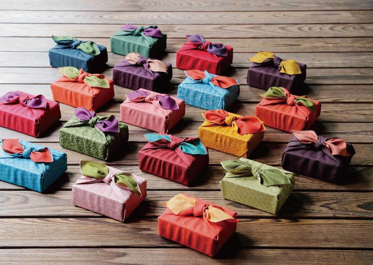 Furoshiki wrap Japanese souvenirs