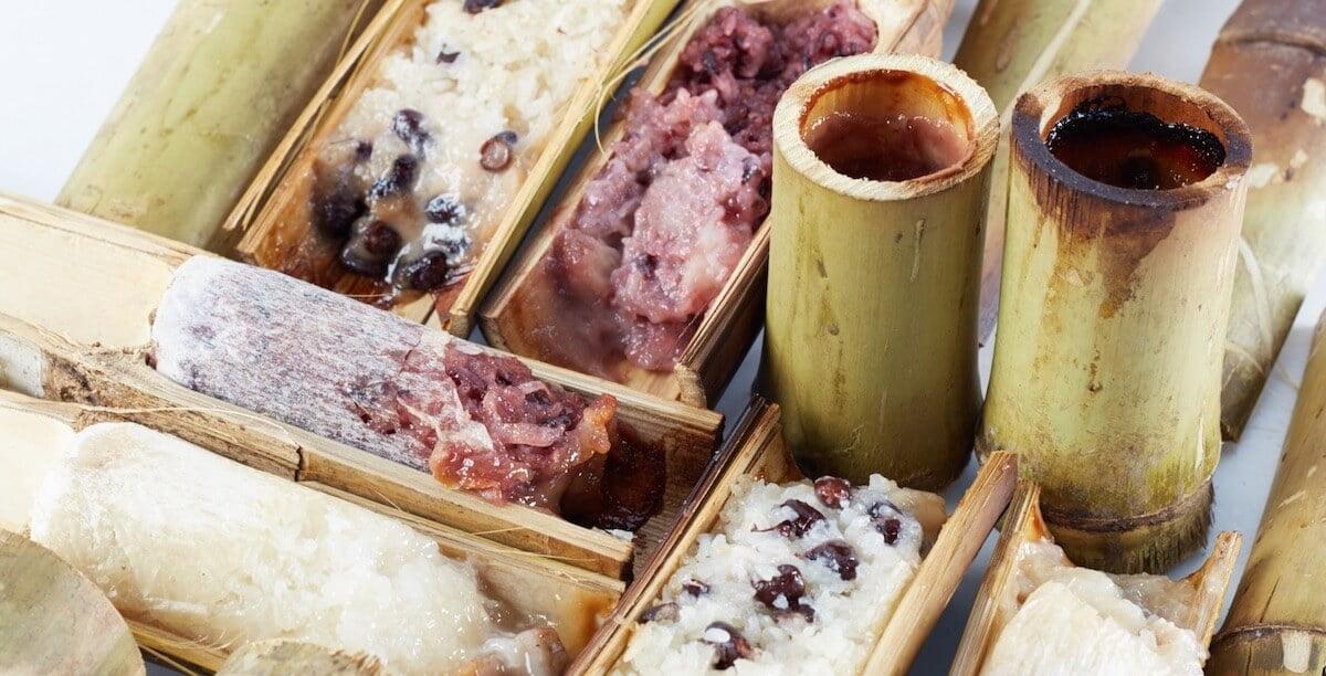 Thai Khao Lam desserts
